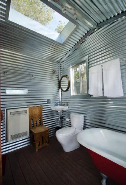 bathroom with sky light