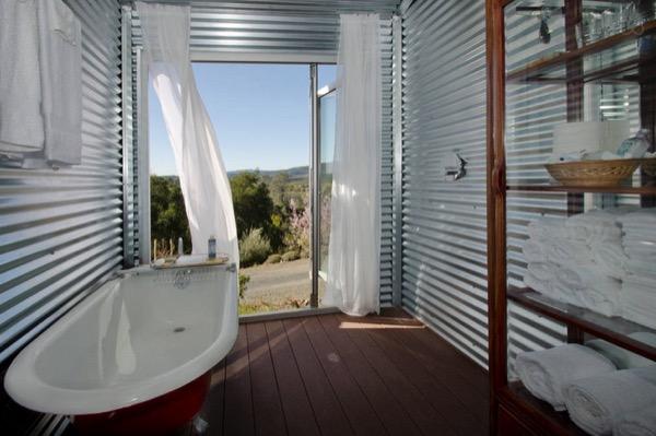 tiny cabin bathroom