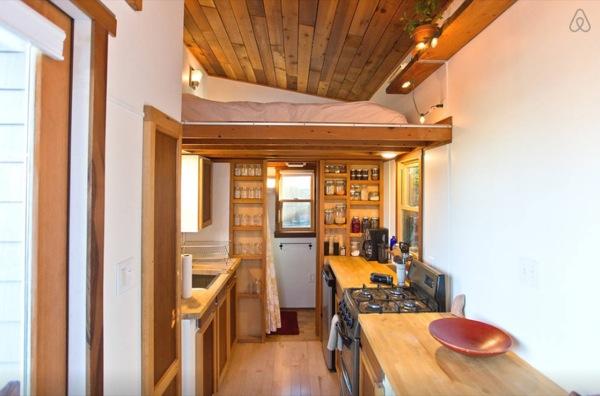 loft view and kitchen