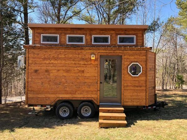 Rustic Western Tiny House on Wheels by Heartland Tiny Homes For Sale 001