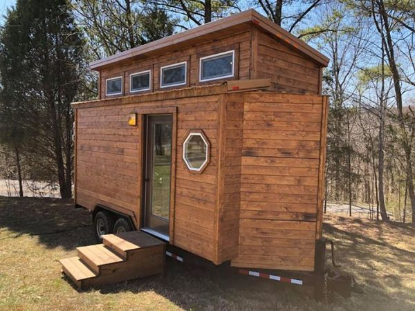Rustic Western Tiny House on Wheels by Heartland Tiny Homes For Sale 002