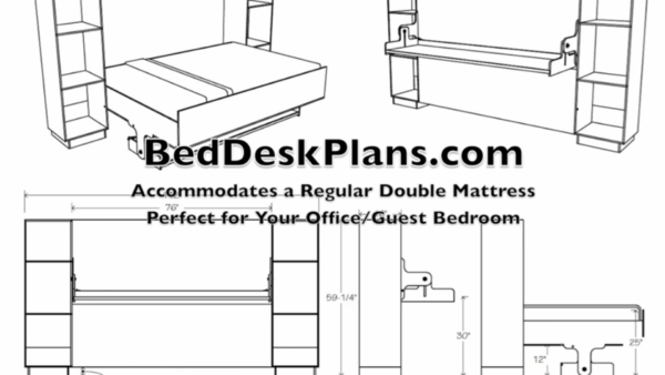 Plans to Build Your Own Converting Bed/Desk