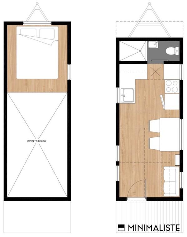 Sequoia THOW Floor Plan