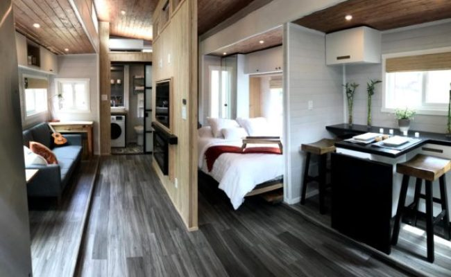 Couple S Expanding Tiny House On Wheels Almost Doubles In