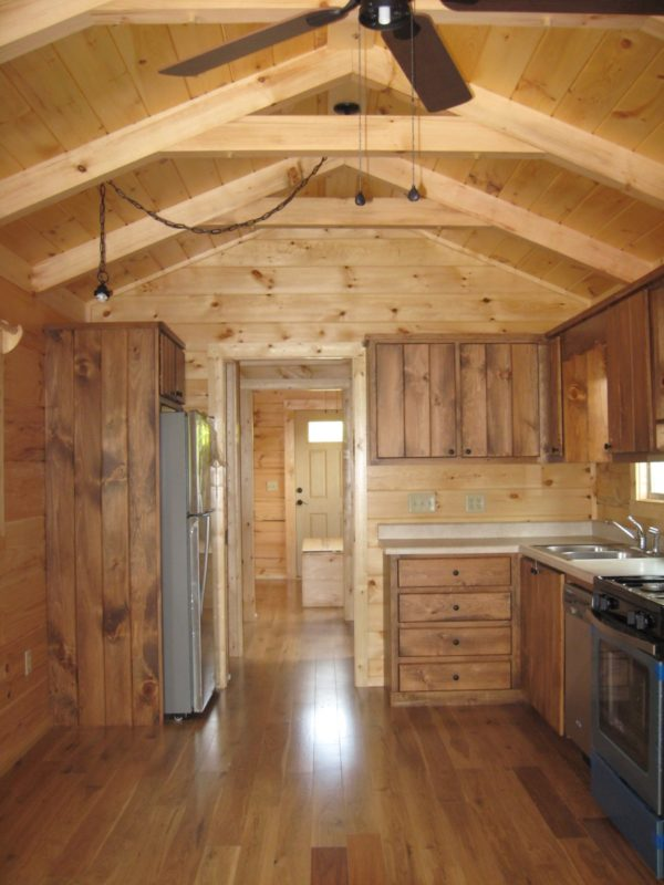 exhaust fan for kitchen ceiling aide dishwasher shotgun log cabin park model tiny house (396 sq. ft.) by ...