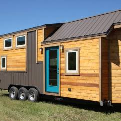 Kitchen Block On Wheels Cupboards Freestanding Simblissity 26' Tahosa Tiny House For Sale, Lyons Co