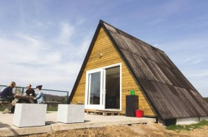 Couple Living in Tiny A-frame Cabin