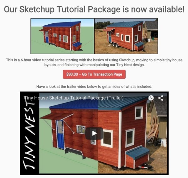 SketchUp Tutorial Package for Tiny House Design