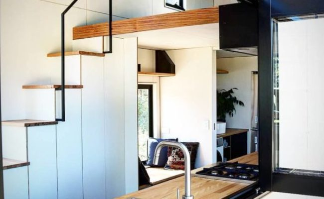 208 Sq Ft Contemporary Tiny Home On Wheels By Sowelo