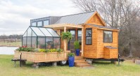 Tiny Home on Wheels with Adjoining Patio and Green House ...