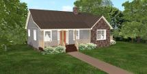 798 Sq. Ft. Wheelchair Accessible Small House Plans