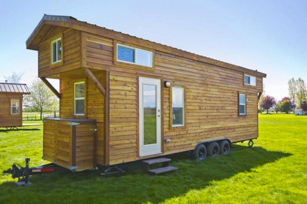 224 sq ft tiny house on wheels by tiny living homes for Tiny house with 2 sleeping lofts