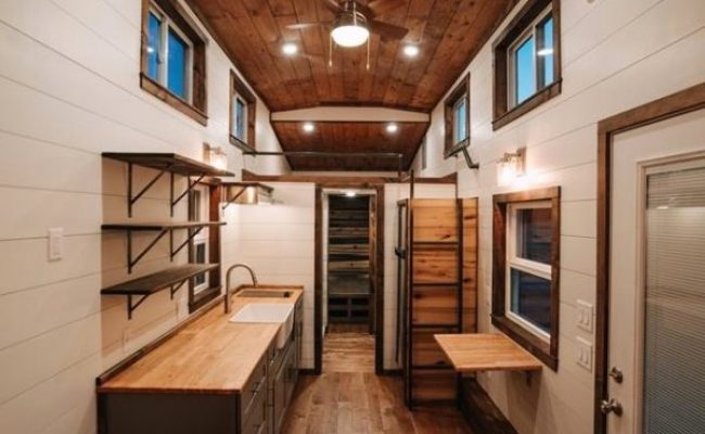 28ft Tiny House On Wheels With A Downstairs Bedroom