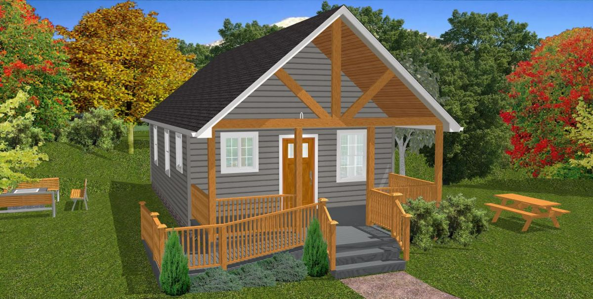 The oasis 600 sq ft wheelchair friendly home plans for Wheelchair accessible houses