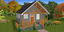600 Sq FT Tiny House Plans