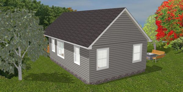 The Oasis 600 Sq Ft Wheelchair Friendly Home Plans