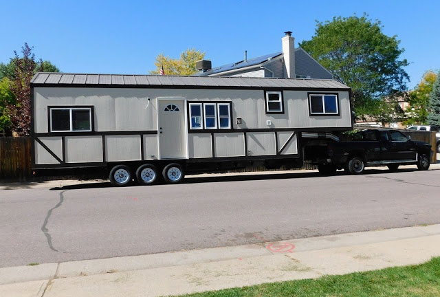 The rose cut tiny home built on a gooseneck trailer for Small homes built on trailers
