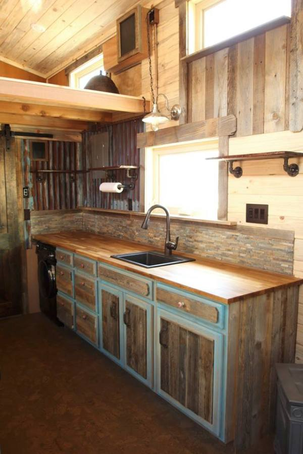 Tiny Home Designs: The SimBLISSity 24' + 7' JJ's Place: Rustic Elegance