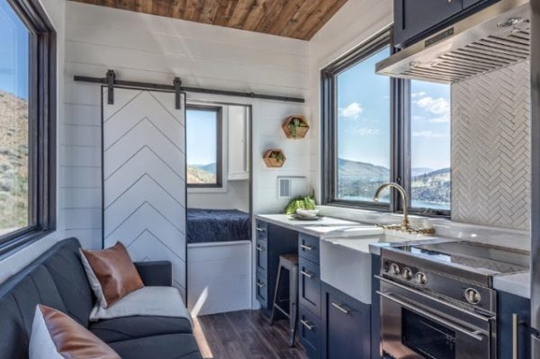 The Wanderer Tiny House with a Main Floor Bedroom and Fold