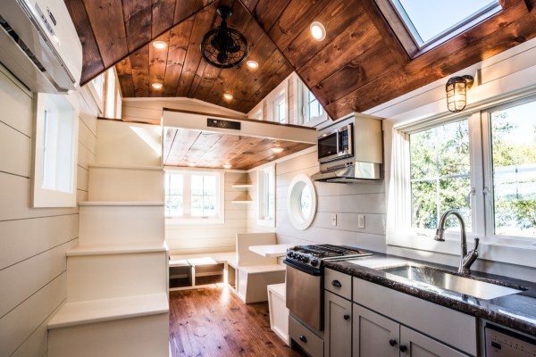 Dormer Loft Cottage By Molecule Tiny Homes: Custom 28' Tiny House On Wheels With Two Oversized Dormer