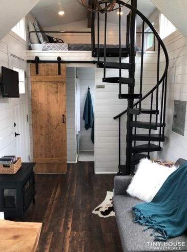 Tiny House With Spiral Staircase To The Master Loft | Used Outdoor Spiral Staircase For Sale | Trade Assurance | Alibaba | Wrought Iron | Deck | Alibaba Com
