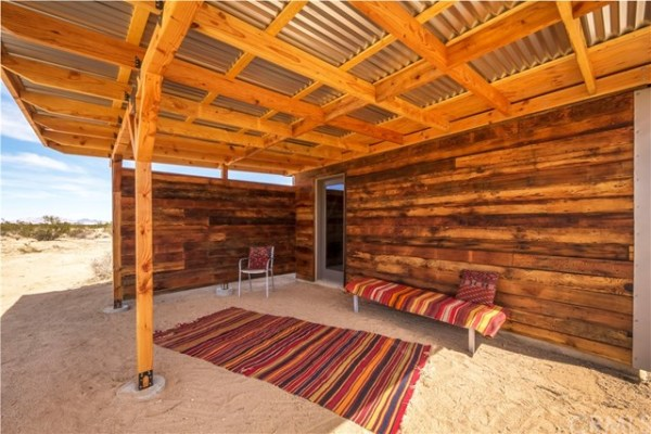 Tiny Homestead Cabin Shell on Five Acres in Joshua Tree CA_005