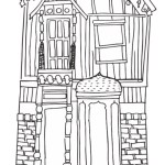 Tiny House Coloring Book 01