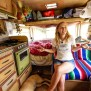 Minimalist Couple Living In A Tiny Camper Trailer That