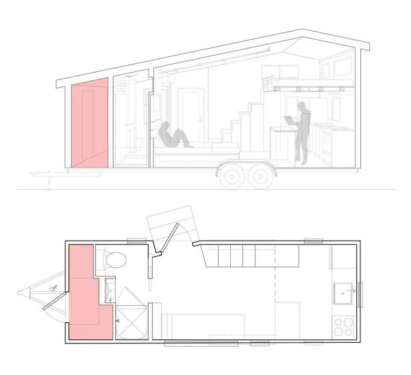 Tiny House on Wheels with Lots of Storage 03