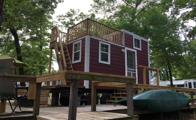 128 Sq Ft Tiny House With Rooftop Balcony For Sale