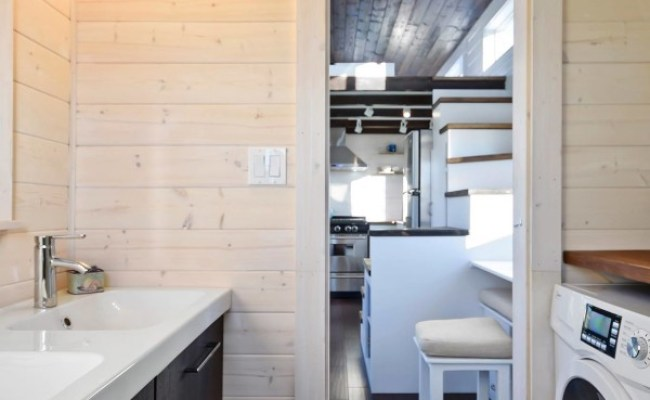Tiny House On Wheels W Big Kitchen And Double Sink Vanity