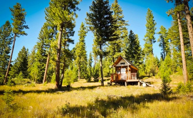 Tiny Off Grid Mountain Cabin