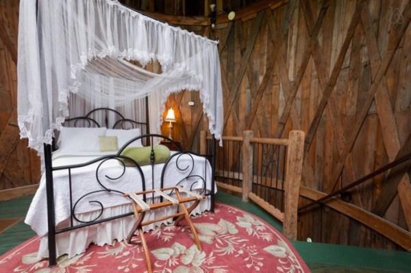 Bedroom in Silo Cabin