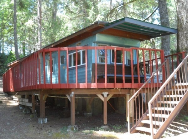 Trailer to Cabin with Deck Conversion