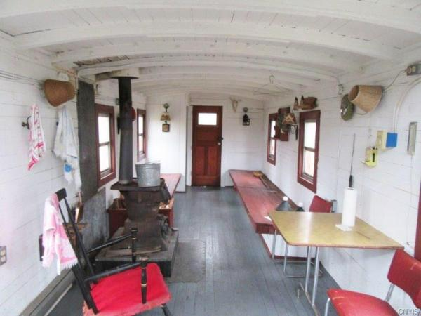 270 Sq Ft Tiny Train Caboose Hunting Cabin On 89 Acres In Ny