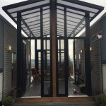 Two 24′ Tiny Houses Connected by Sunroom 002