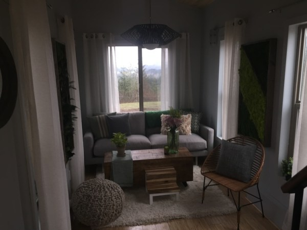 Two 24 Tiny Houses Connected by Sunroom