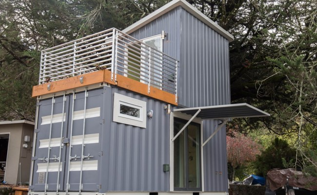 Two Story Shipping Container Tiny House For Sale