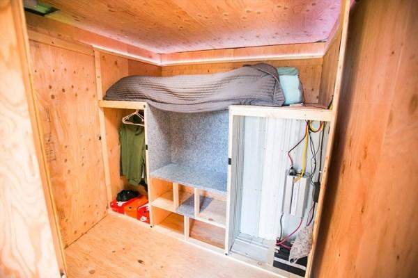 Urban Stealth Uhaul Conversion: Box Truck Tiny House For Sale!
