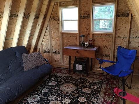14x14 Tiny Aframe Cabin Plans by LaMar Alexander