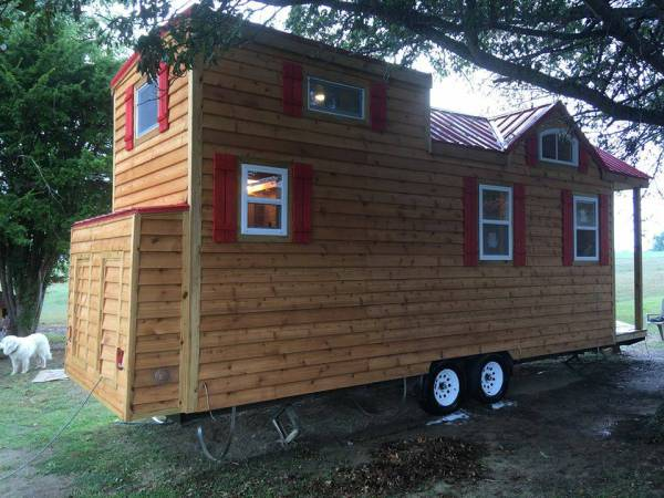 The 246 sq. ft. Wee Castle Tiny House For Sale in KY