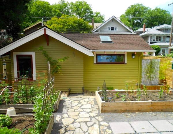 Converted garage tiny house woman has garage converted for Adu plans for sale