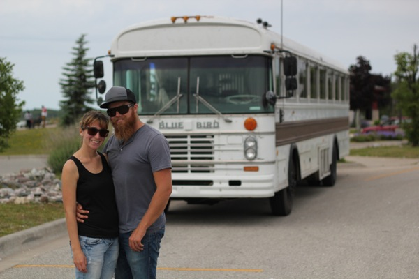Young-Couple-Travel-US-in-Converted-1984-Blue-Bird-Bus-001