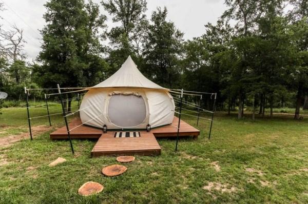 Yurt Glamping at Green Acres near Austin, TX 001