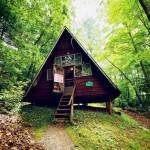 A-frame Tiny House in the Woods