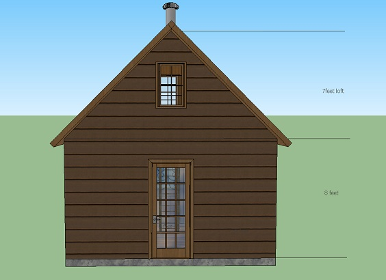 280 Sq Ft Solar Powered Off Grid Cabin With Covered Front Porch