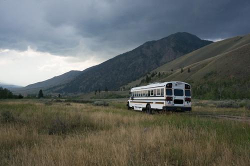 Adventurous Couple's DIY School Bus Motorhome