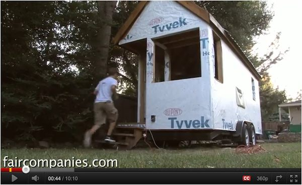 Austin Hay is a 16 year old who is building his own tiny house on a trailer