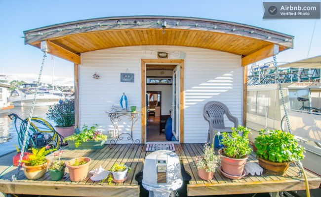 Barge Tiny House Vacation Rental On Wheels Or On The Water