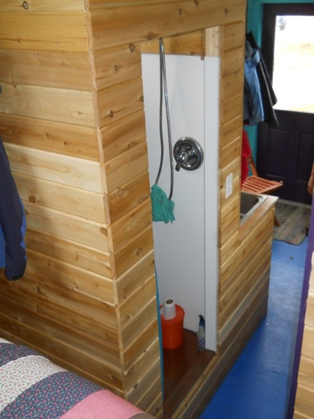 Jane's Solar Powered Tiny House with Composting Toilet, Food Storage and Bedroom (14)